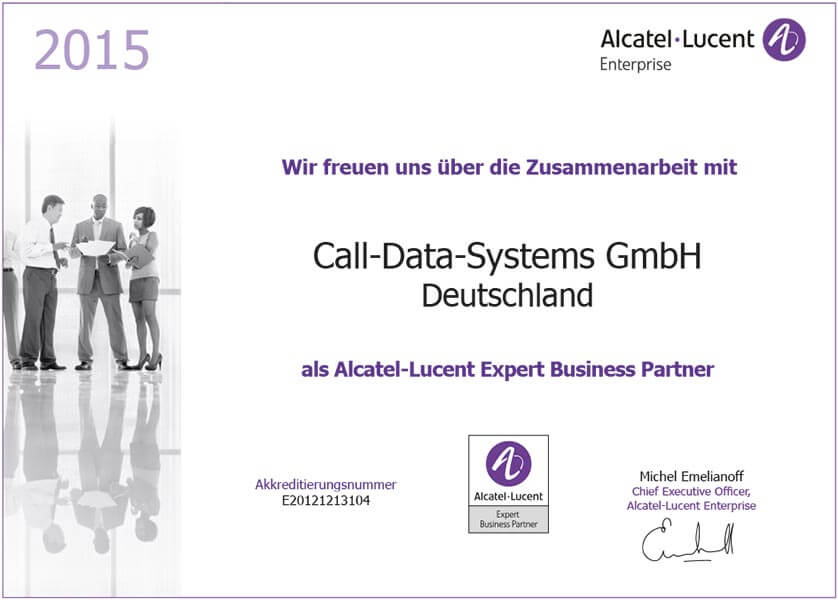 Alcatel Lucent Open Touch Zertifizierung erneuert - Call Data Systems