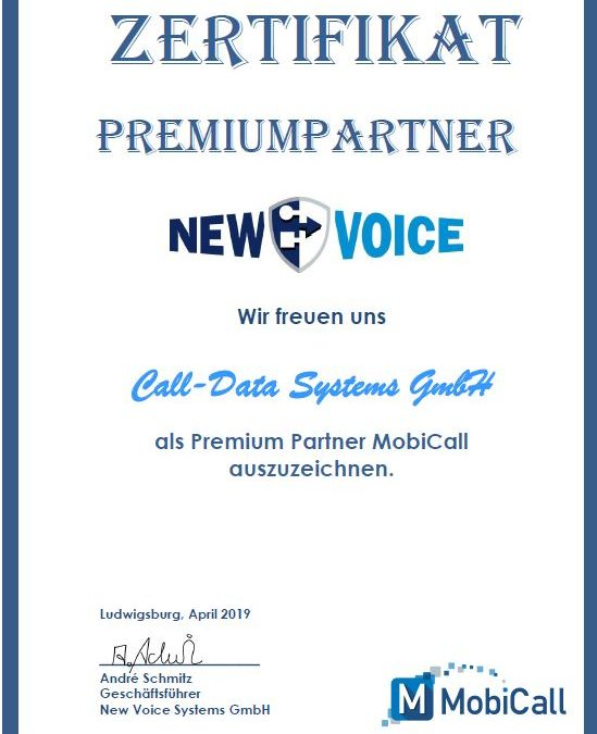NewVoice MobiCall PREMIUMPARTNER
